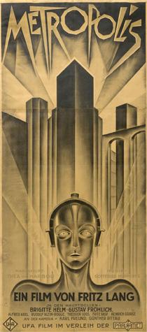 Three-sheet poster for the 1927 German film Metropolis