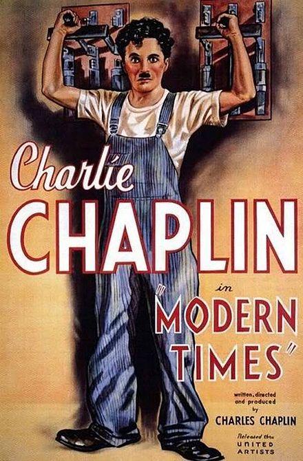 Original poster for Charlie Chaplin's 1936 film Modern Times.