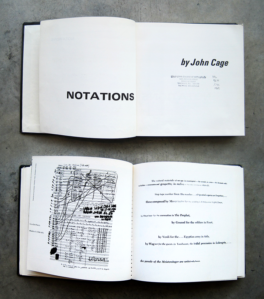 John Cage Notations (1969) - graphic scores